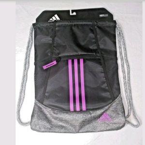 Adidas Alliance II Sack Pack Black Purple Gym Bag
